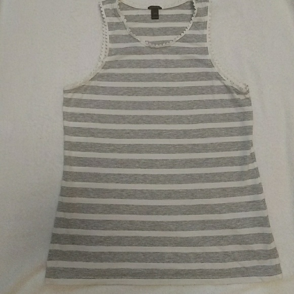 J. Crew Tops - Grey and white tank top